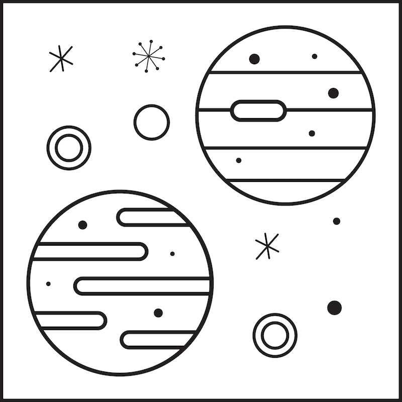 Coloring book planet preview