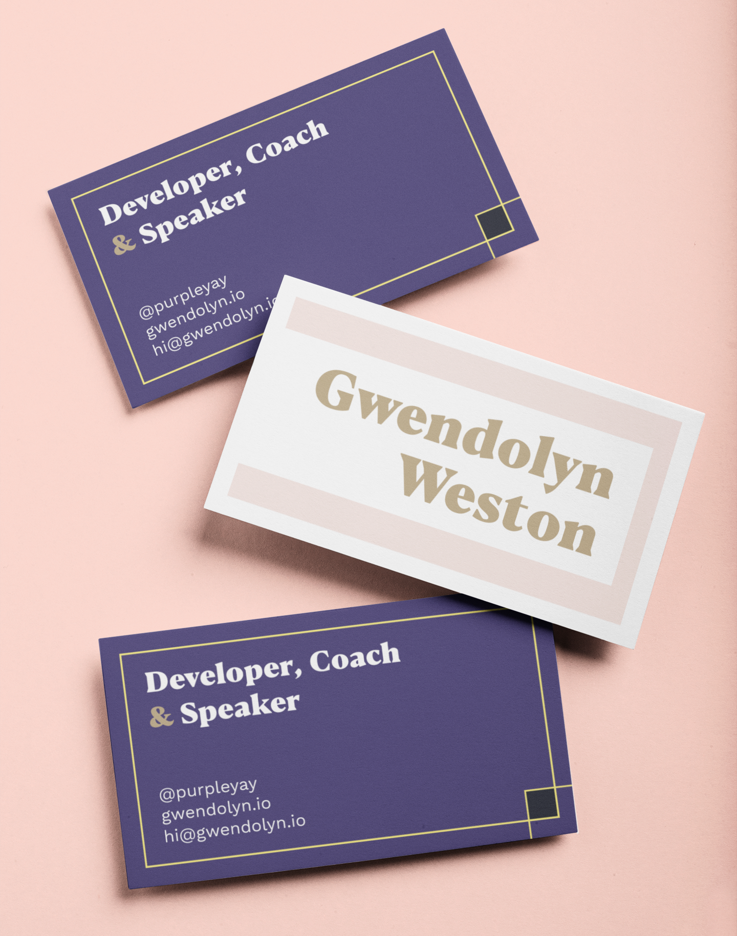 Mockup of project business cards