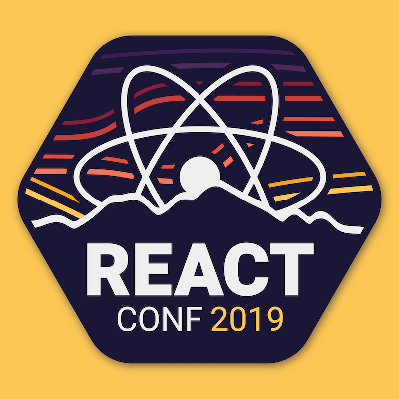 Event sticker preview for React Conf 2019