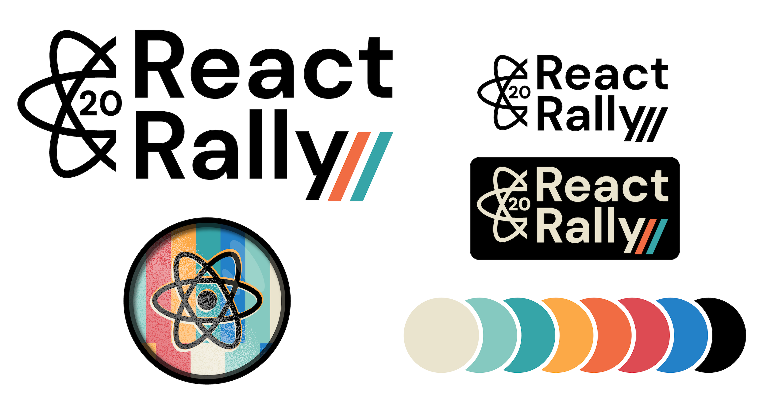 Preview of React Rally 2020 logo and colors